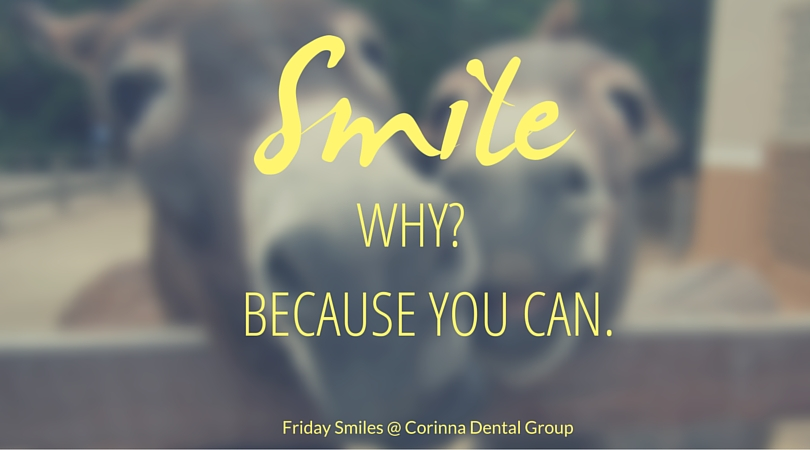 smile because you can