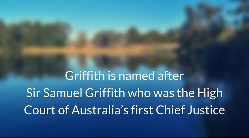 Origin of the suburb name Griffith 2603